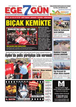 Aydın`da polis yürüyüşe izin vermedi