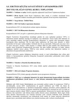 Ayrıntılar - Erciyes KSS