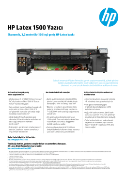 HP Latex 1500 Yazıcı