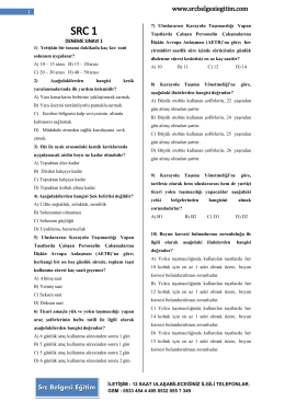 src1 deneme sınavları