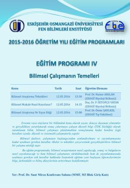 Slayt 1 - Fen Bilimleri Enstitüsü - Eskişehir Osmangazi Üniversitesi