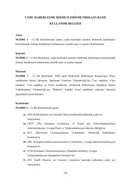 uydu haberleşme hizmetlerinde frekans band kullanımı belgesi