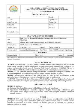 1/3 GENEL HÜKÜMLER MADDE 1 - İzmir Gıda Kontrol Laboratuvar