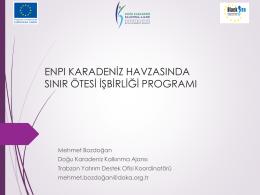 ENPI CBC Ordu Sunumu by DOKA Trabzon ISO