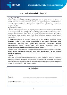1. 2016 YILI İPA İŞYERİ BİLGİ FORMU pdf