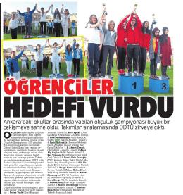 Ankara`daki okullar arasında yapılan okçuluk şampiyonası büyük bir