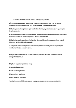 oyun açıklamaları - Antalya Gençlik ve Spor İl Müdürlüğü