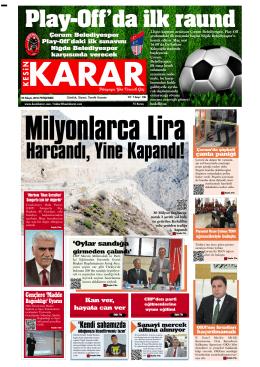 05 Mayıs 2016 - Kesin Karar Gazetesi
