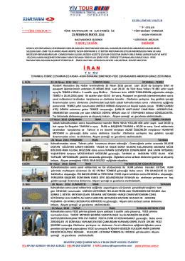 2350$ 10 Gün Baştanbaşa İRAN Tebriz-Tahran-Yedz