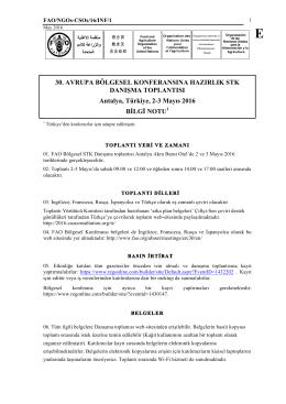 Bilgi notu - CSO Regional Consultation 2016