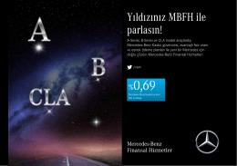 A-Serisi, B-Serisi ve CLA Model Mayıs Ayı kampanyası