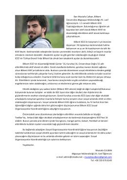 Niyet Mektubu - IEEE Bilkent Student Branch