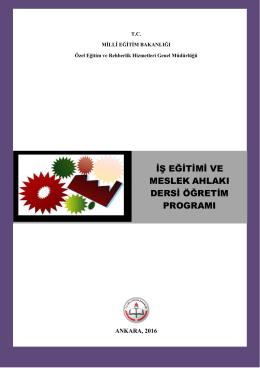 iş eğitimi ve meslek ahlakı dersi öğretim programı