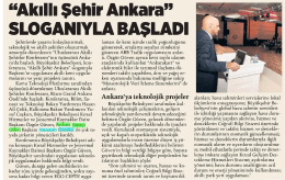 """Akıllı Şehir Ankara"" SLOGANIYLA BAŞLADI"