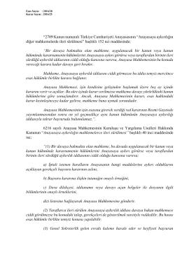 """""""2709 Kanun numaralı Türkiye Cumhuriyeti Anayasasının"""