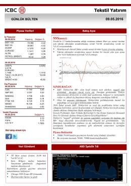 tekstil menkul - Tekstil Yatırım