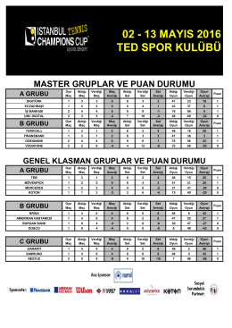Grup Puan Durumu - İstanbul Champions