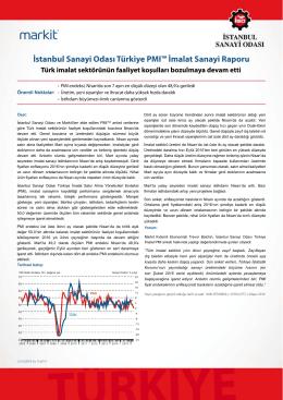 İstanbul Sanayi Odası Türkiye PMI İmalat Sanayi Raporu (Nisan 2016)