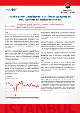 İstanbul Sanayi Odası İstanbul PMI İmalat Sanayi Raporu (Nisan