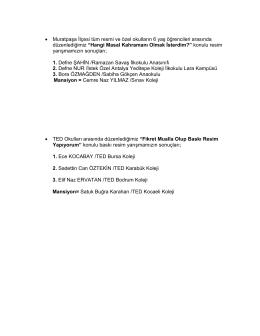 • Muratpaşa İlçesi tüm resmi ve özel okulların 6 yaş öğrencileri