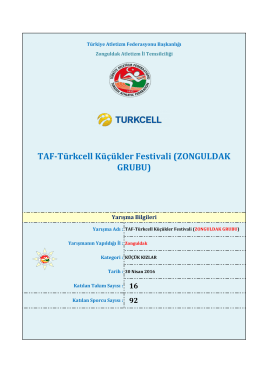 zonguldak - Türkiye Atletizm Federasyonu