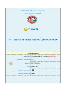 edirne - Türkiye Atletizm Federasyonu