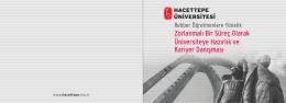 Zorlanmalı Bir Süreç Olarak Üniversiteye Hazırlık ve Kariyer