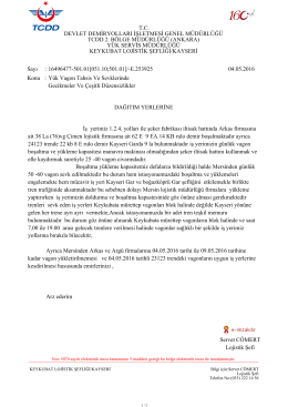 05.05.2016 - Devlet Demir Yollari 6.Bölge