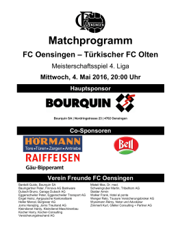 Matchprogramm