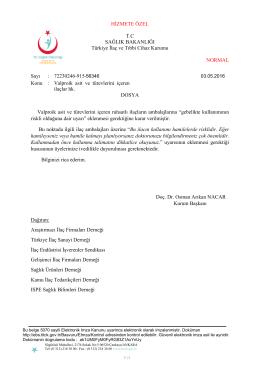 Konu : Valproik asit v - Türkiye İlaç ve Tıbbi Cihaz Kurumu