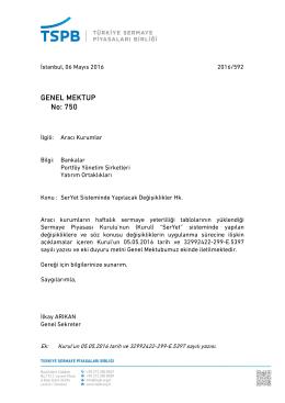 Genel Mektup 750