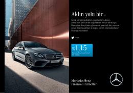 Yeni E-Serisi Mayıs Ayı Kampanyası - Mercedes