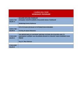 workshop programı