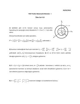 03/05/2016 F507 Fizikte Matematik Metotlar