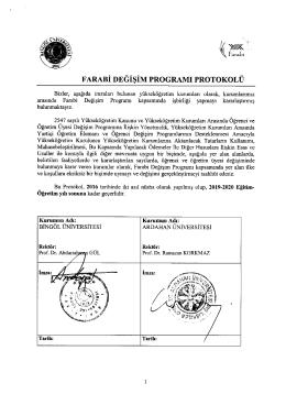 farabi değişim programı protokolü