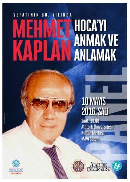 Saat: 10:00 Atatürk Üniversitesi Kültür Merkezi Mavi Salon