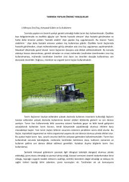 tarımda yapılan önemli yanlışlıklar