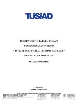 Türkiye`deki Dijital Değişime CEO Bakışı Raporu Basın