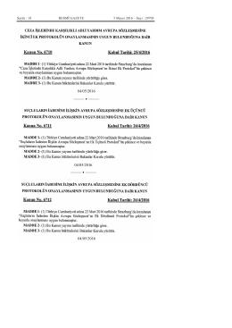 Sayfa : 18 RESMÎ GAZETE 5 Mayıs 2016 – Sayı