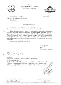 ırüti§idiifilIıı - afyon il millî eğitim müdürlüğü