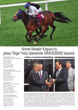 Ahmet Kesebir Koşusu`nu jokeyi Tolga Yıldız idaresinde