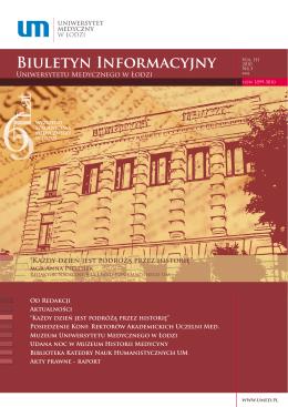 Biuletyn Informacyjny - Uniwersytet Medyczny w Łodzi