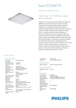Product Leaflet: Oprawa Savio TCS760/770, przeznaczona do