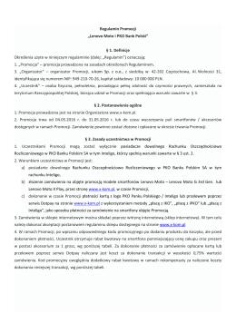 Regulamin Promocji - iKO