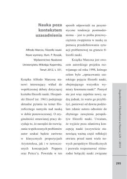 Wydrukuj tekst - Zagadnienia Filozoficzne w Nauce