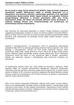Wersja PDF - AtleticoPoland.com