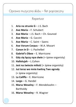 Pełna lista utworów - kliknij