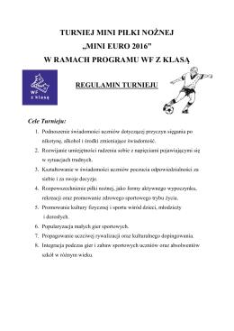 Regulamin turnieju - gimkrasne.edu.pl