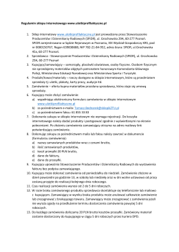 Regulamin - Ulotki profilaktyczne