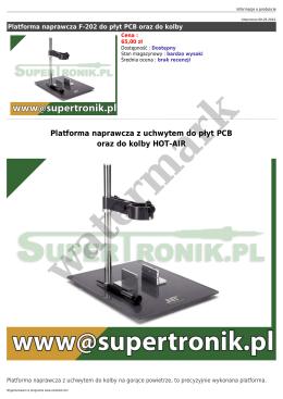 Platforma naprawcza z uchwytem do płyt PCB oraz